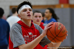 CIAC Boys Basketball; Wolcott vs. Ansonia, Pregame - Photo # (159)