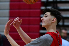 CIAC Boys Basketball; Wolcott vs. Ansonia, Pregame - Photo # (35)