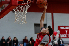 CIAC Boys Basketball; Wolcott vs. Ansonia, Pregame - Photo # (43)