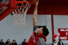 CIAC Boys Basketball; Wolcott vs. Ansonia, Pregame - Photo # (44)
