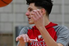 CIAC Boys Basketball; Wolcott vs. Derby, Pregame - Photo # (110)