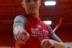 CIAC Boys Basketball; Wolcott vs. Derby, Pregame - Photo # (186)