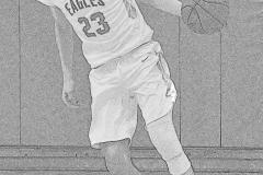 Gallery CIAC Boys Basketball; Wolcott vs. Derby - Photo # 664