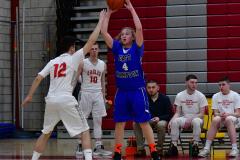 CIAC Boys Basketball; Wolcott 69 vs. East Hampton 63 - Photo # 457