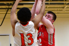 CIAC Boys Basketball; Watertown 63 vs. Wolcott 73 - Photo # 235