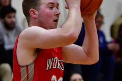 CIAC Boys Basketball; Watertown 63 vs. Wolcott 73 - Photo # 267