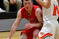 CIAC Boys Basketball; Watertown 63 vs. Wolcott 73 - Photo # 274