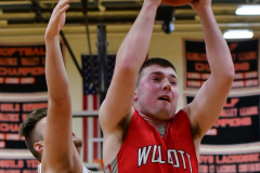 CIAC Boys Basketball; Watertown 63 vs. Wolcott 73 - Photo # 298