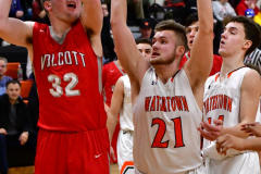 CIAC Boys Basketball; Watertown 63 vs. Wolcott 73 - Photo # 386