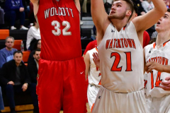 CIAC Boys Basketball; Watertown 63 vs. Wolcott 73 - Photo # 387