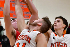 CIAC Boys Basketball; Watertown 63 vs. Wolcott 73 - Photo # 389