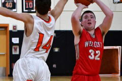 CIAC Boys Basketball; Watertown 63 vs. Wolcott 73 - Photo # 405