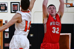 CIAC Boys Basketball; Watertown 63 vs. Wolcott 73 - Photo # 406