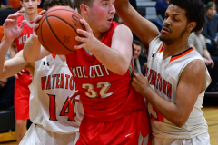 CIAC Boys Basketball; Watertown 63 vs. Wolcott 73 - Photo # 408