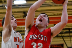 CIAC Boys Basketball; Watertown 63 vs. Wolcott 73 - Photo # 459