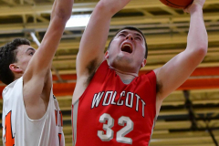 CIAC Boys Basketball; Watertown 63 vs. Wolcott 73 - Photo # 460