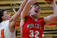 CIAC Boys Basketball; Watertown 63 vs. Wolcott 73 - Photo # 461