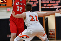 CIAC Boys Basketball; Watertown 63 vs. Wolcott 73 - Photo # 517