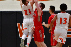 CIAC Boys Basketball; Watertown 63 vs. Wolcott 73 - Photo # 524