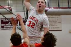 CIAC Boys Basketball; Wolcott 47 vs. Greenwich 76 - Photo # 387
