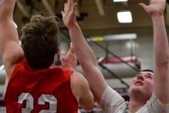 CIAC Boys Basketball; Wolcott 47 vs. Greenwich 76 - Photo # 593