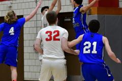 CIAC Boys Basketball; Wolcott 69 vs. East Hampton 63 - Photo # 343