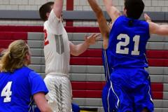 CIAC Boys Basketball; Wolcott 69 vs. East Hampton 63 - Photo # 382