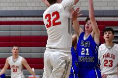 CIAC Boys Basketball; Wolcott 69 vs. East Hampton 63 - Photo # 394