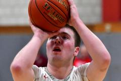 CIAC Boys Basketball; Wolcott 69 vs. East Hampton 63 - Photo # 425