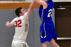 CIAC Boys Basketball; Wolcott 69 vs. East Hampton 63 - Photo # 432