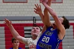 CIAC Boys Basketball; Wolcott 69 vs. East Hampton 63 - Photo # 474