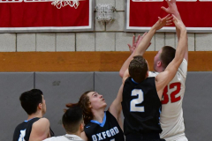 CIAC Boys Basketball; Wolcott 81 vs. Oxford 74 - Photo # 342