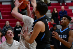 CIAC Boys Basketball; Wolcott 81 vs. Oxford 74 - Photo # 393