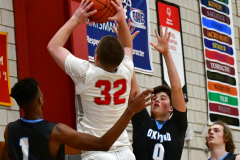 CIAC Boys Basketball; Wolcott 81 vs. Oxford 74 - Photo # 567