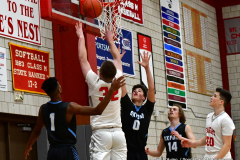 CIAC Boys Basketball; Wolcott 81 vs. Oxford 74 - Photo # 568