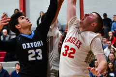 CIAC Boys Basketball; Wolcott 81 vs. Oxford 74 - Photo # 678