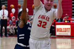 CIAC Boys Basketball; Wolcott vs. Ansonia - Photo # (585)
