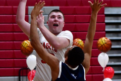 CIAC Boys Basketball; Wolcott vs. Ansonia - Photo # (849)