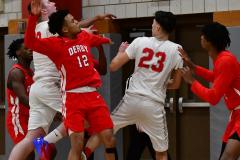 Gallery CIAC Boys Basketball; Wolcott vs. Derby - Photo # 457