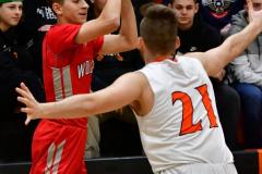 CIAC Boys Basketball; Watertown 63 vs. Wolcott 73 - Photo # 273
