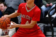 CIAC Boys Basketball; Watertown 63 vs. Wolcott 73 - Photo # 439