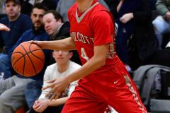 CIAC Boys Basketball; Watertown 63 vs. Wolcott 73 - Photo # 440