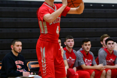 CIAC Boys Basketball; Watertown 63 vs. Wolcott 73 - Photo # 443