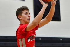 CIAC Boys Basketball; Watertown 63 vs. Wolcott 73 - Photo # 444
