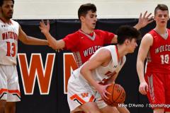 CIAC Boys Basketball; Watertown 63 vs. Wolcott 73 - Photo # 472