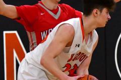 CIAC Boys Basketball; Watertown 63 vs. Wolcott 73 - Photo # 473