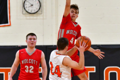 CIAC Boys Basketball; Watertown 63 vs. Wolcott 73 - Photo # 475