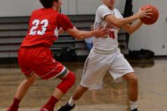 CIAC Boys Basketball; Wolcott 47 vs. Greenwich 76 - Photo # 255