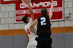 CIAC Boys Basketball; Wolcott 81 vs. Oxford 74 - Photo # 595