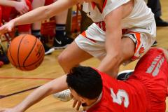 CIAC Boys Basketball; Watertown 63 vs. Wolcott 73 - Photo # 305